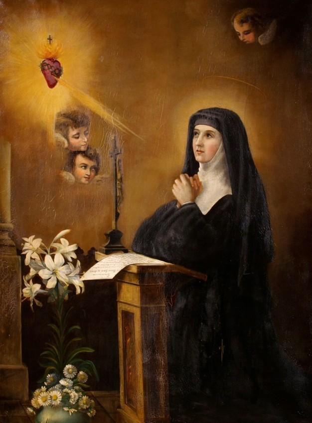 Santa Margarita María Alacoque corazon sagrado