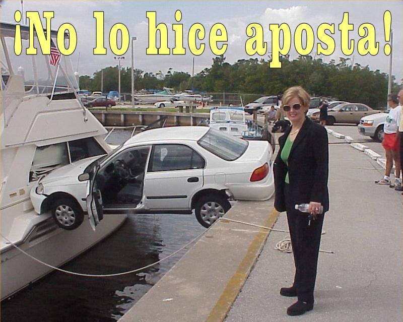 humor accidente coche mujer
