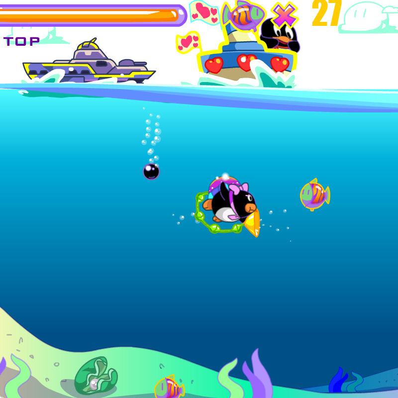 juego atrapar peces pinguino