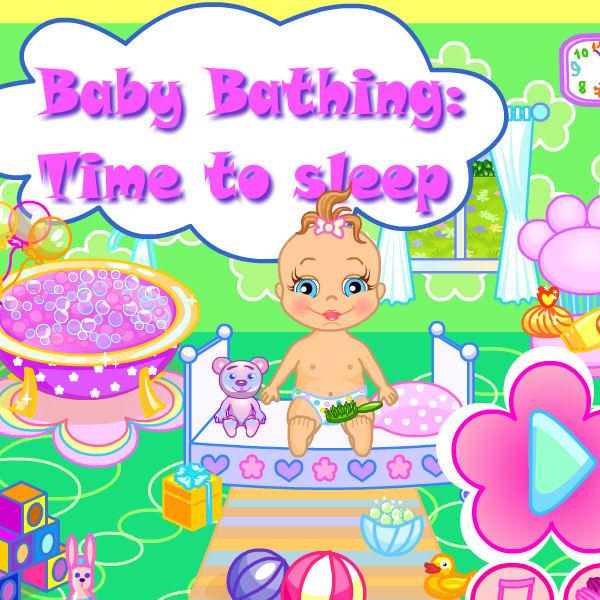juego banar bebe
