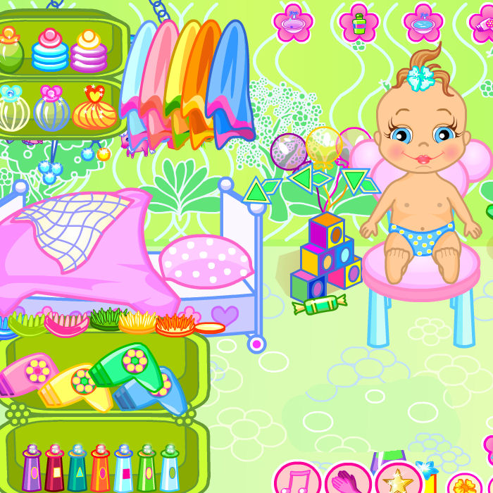 juego bano bebe