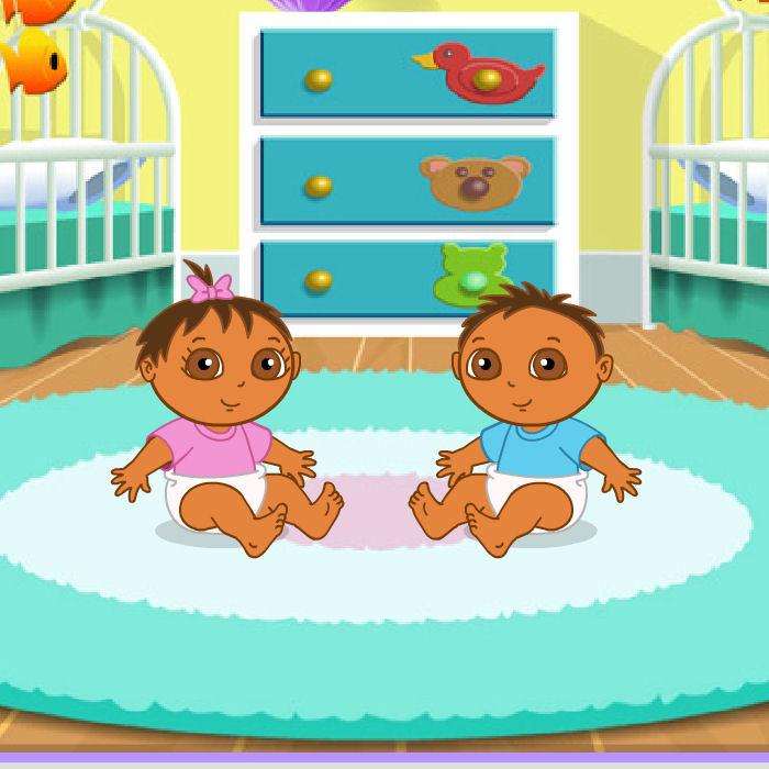 juego cuidar gemelos