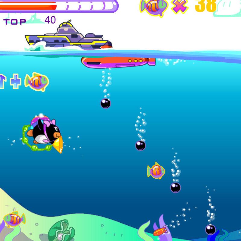 juego pinguino capturar peces