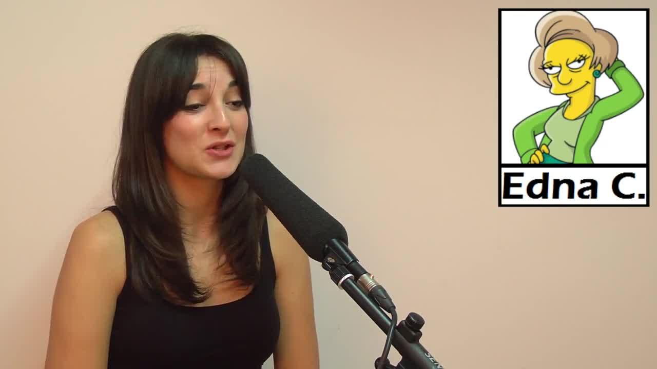Leonor Lavado edna simpsons