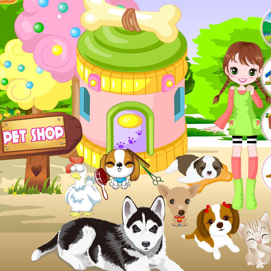 juego tienda mascotas