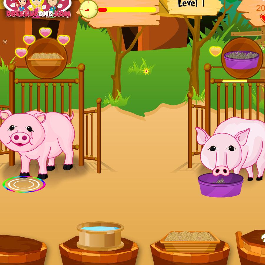 juegos cuidar cerdos
