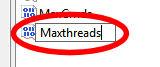regedit maxthreads