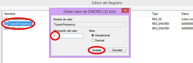 tcpackfrequency registro