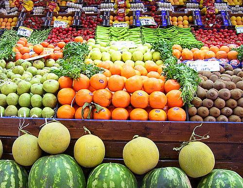 colocar frutas