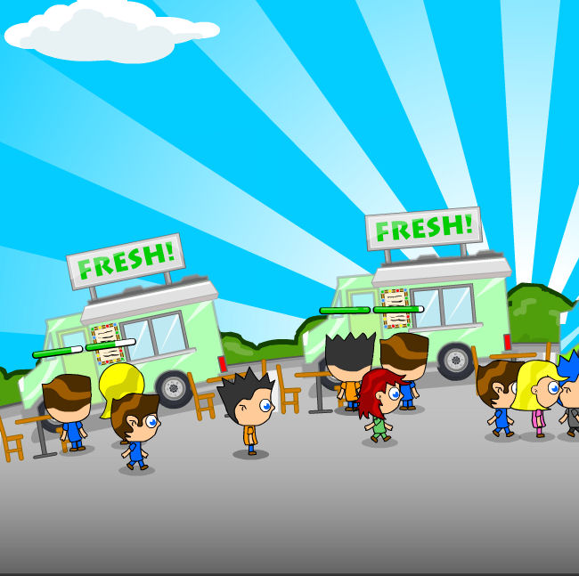 juego comprar comida camion