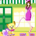 Juego de comprar ropa para el perro y la chica