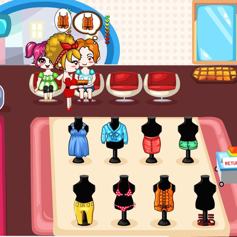 juego comprar vestido centro comercial