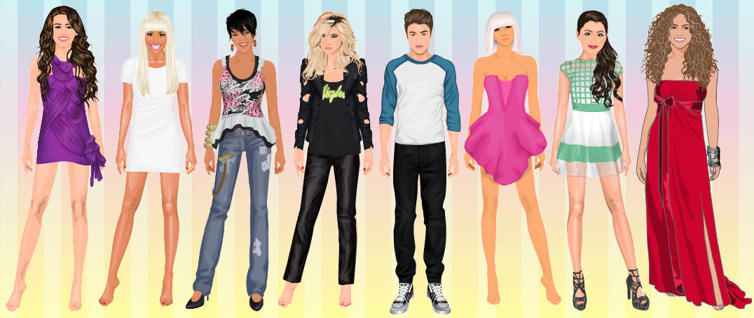 Juegos vestir famosos cantantes