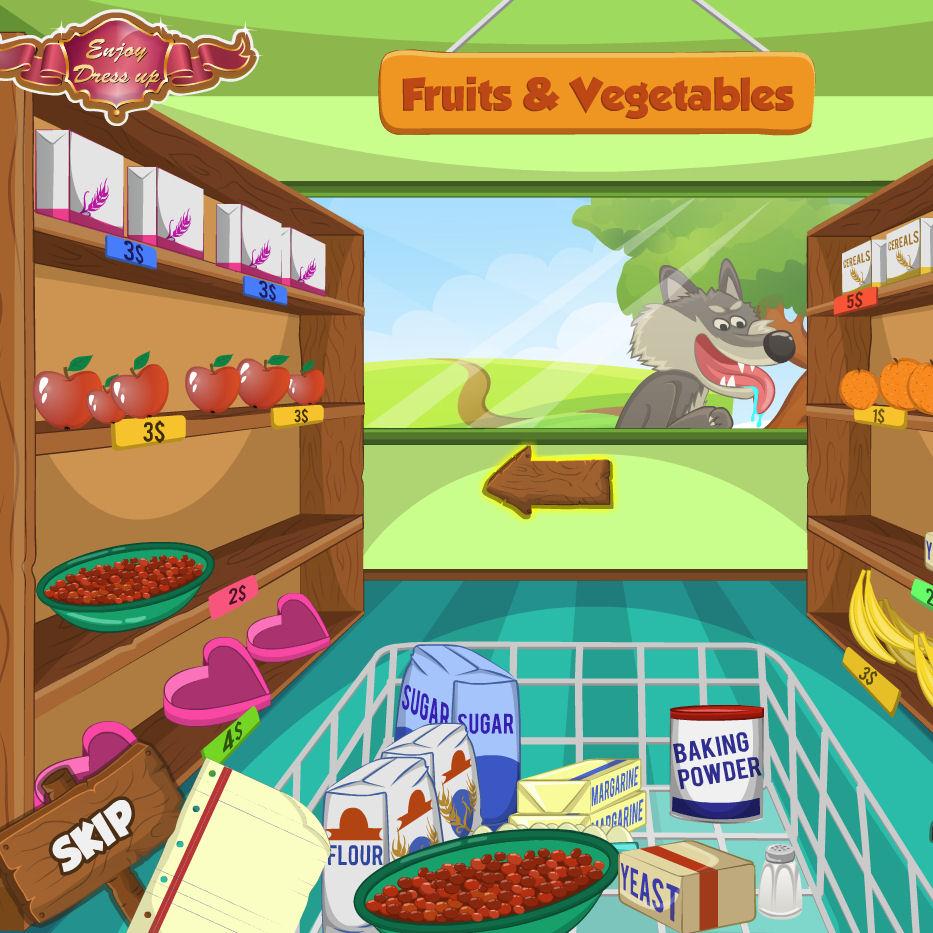 juego comprar comida caperucita