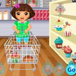 Juego de Dora la exploradora comprando