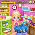 Juego de comprar con Barbie para hacer tarta