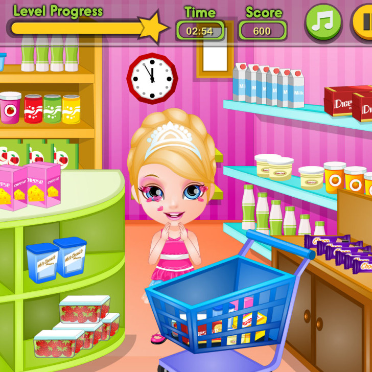Juego de comprar con barbie para hacer tarta juegos for Crear cocina online