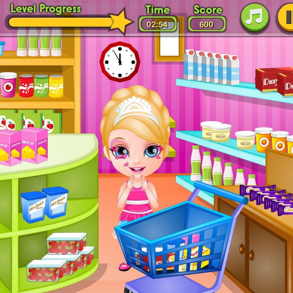 juego comprar tarta barbie
