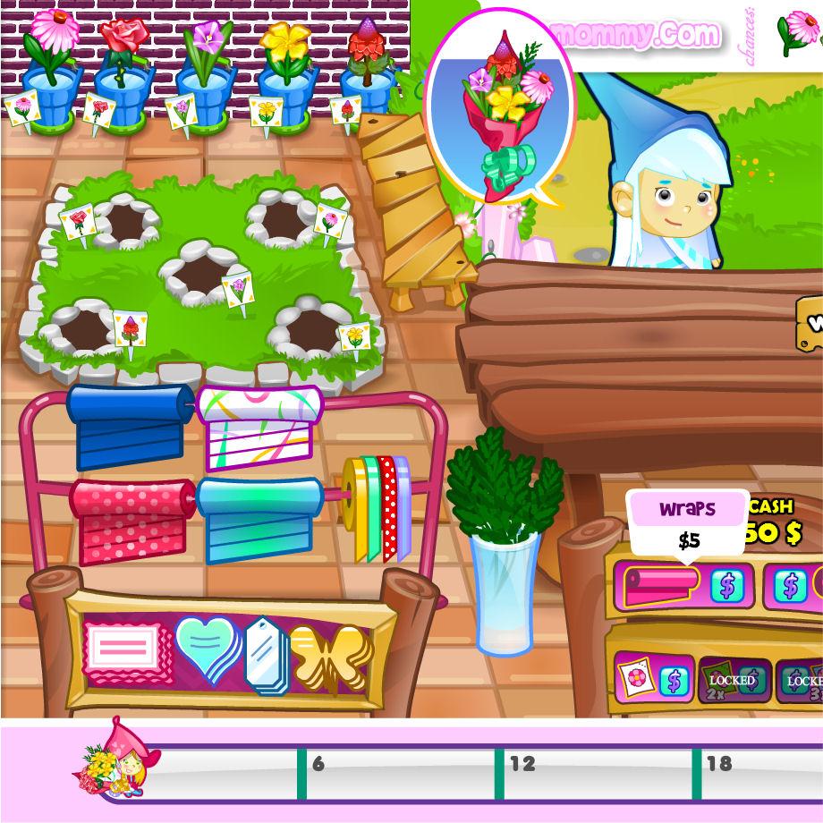juego comprar tienda flores