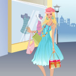 Juego de tienda con ropa de moda