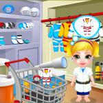 Juego de compras en la tienda de los astronautas