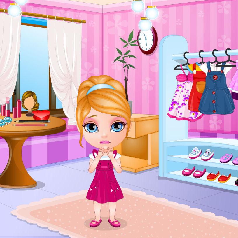 juego vestir barbie jardinera