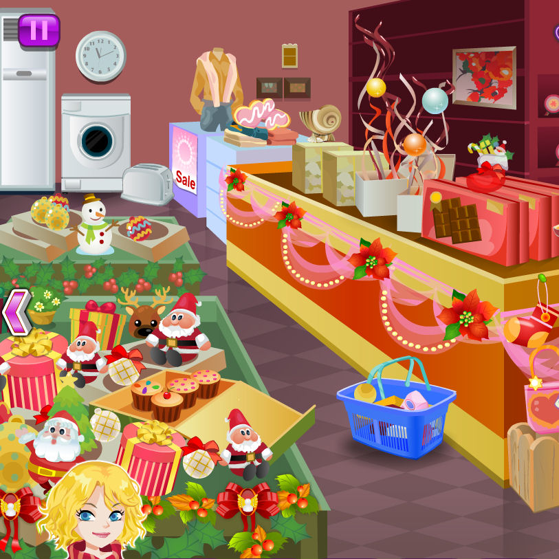 juego comprar articulos navidenos