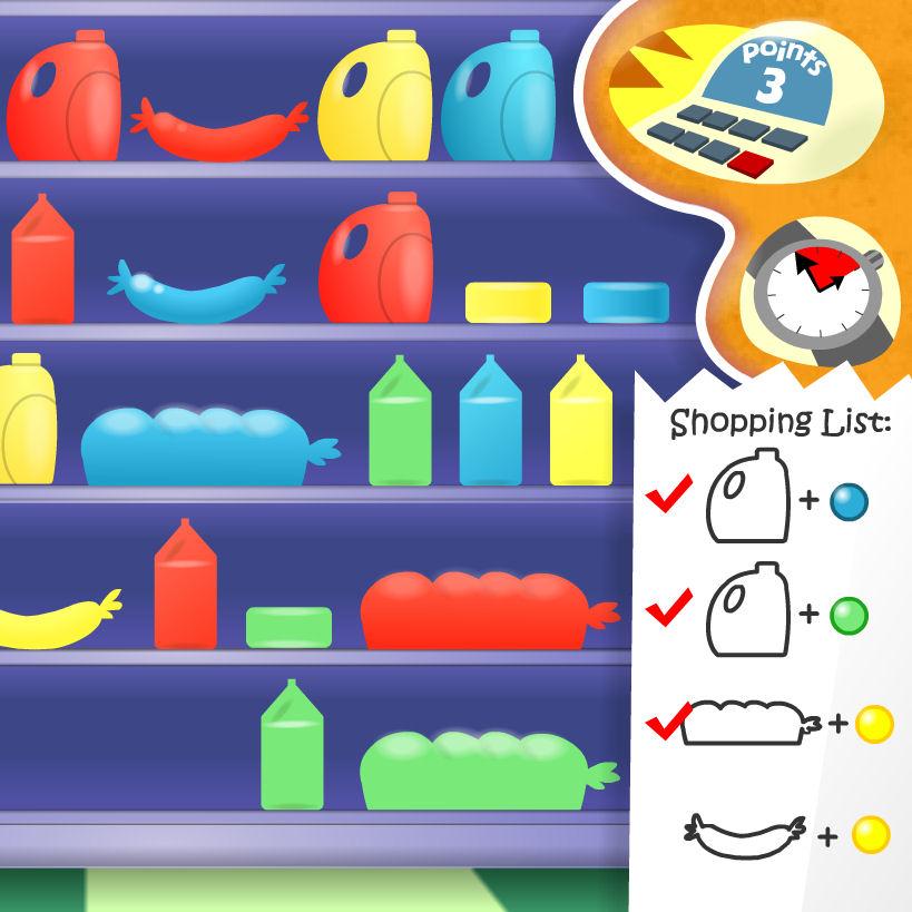 juego comprar comida color