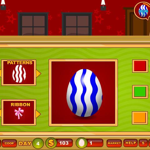 juego comprar huevos decorados