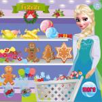 Juego de compras navideñas con Elsa Frozen