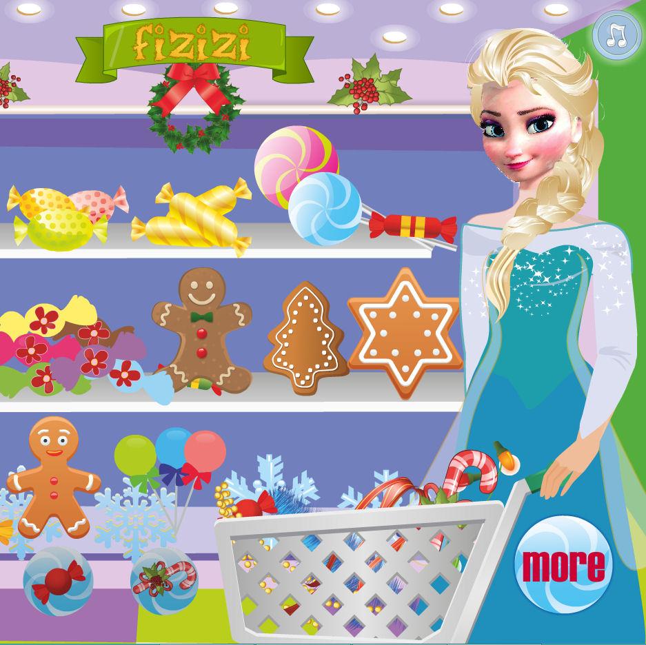 juego compras navidenas Elsa