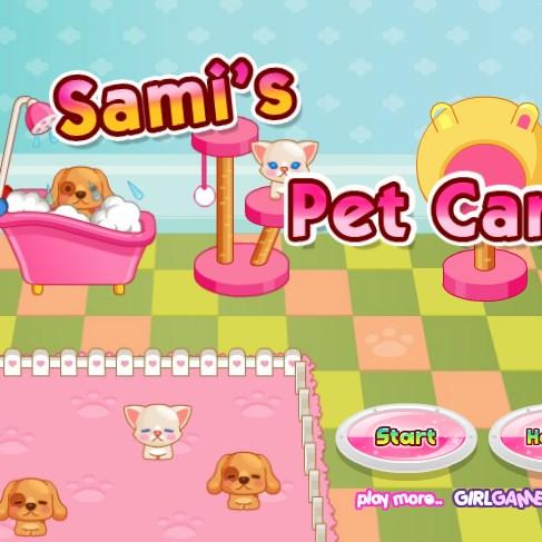 juego cuidar perro gatos