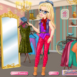 Moda en la tienda de segunda mano