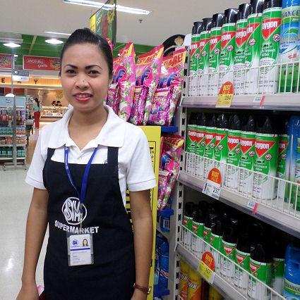 dependienta supermercado