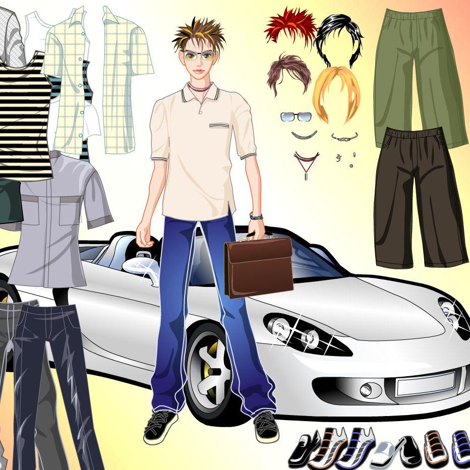 juego vestir chicos ir compras