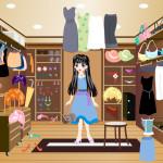 Juego de vestir en la tienda