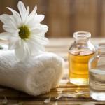 Preparativos para dar un masaje