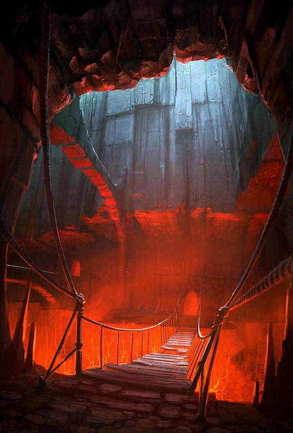 puente fuego lava
