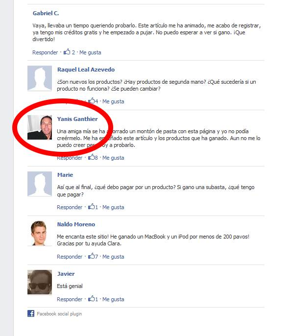 comentarios falsos facebook