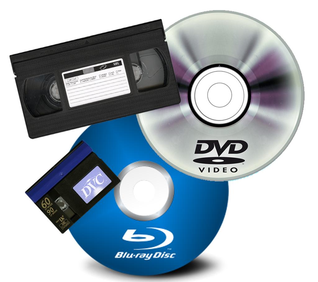vhs dvd blu ray