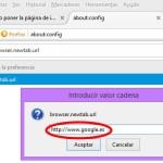 Cambiar la página de inicio al abrir una pestaña nueva en Firefox