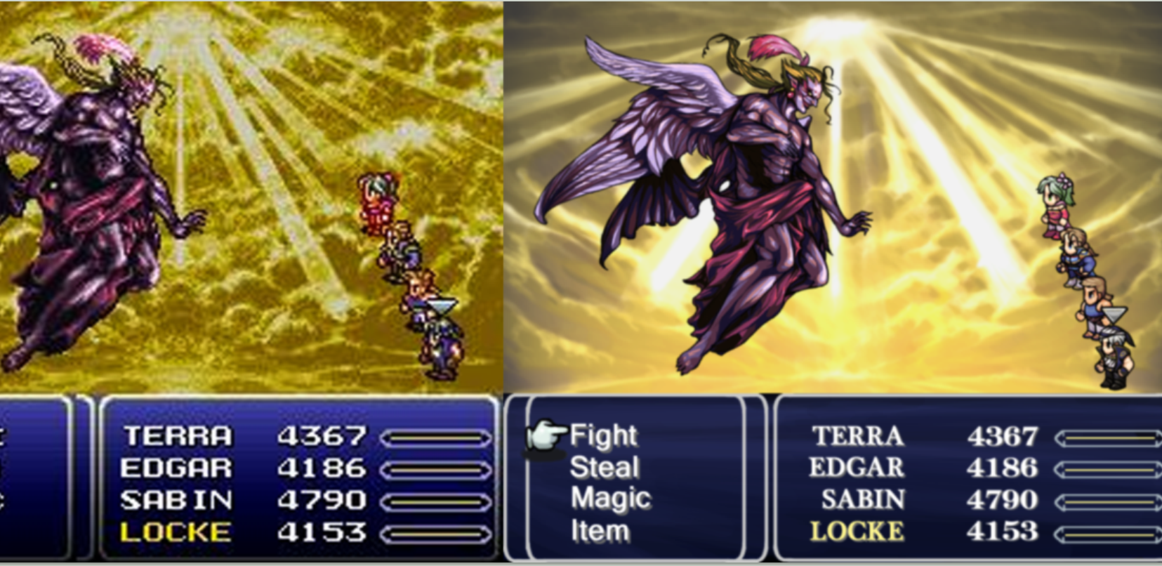 final fantasy 6 comparacion