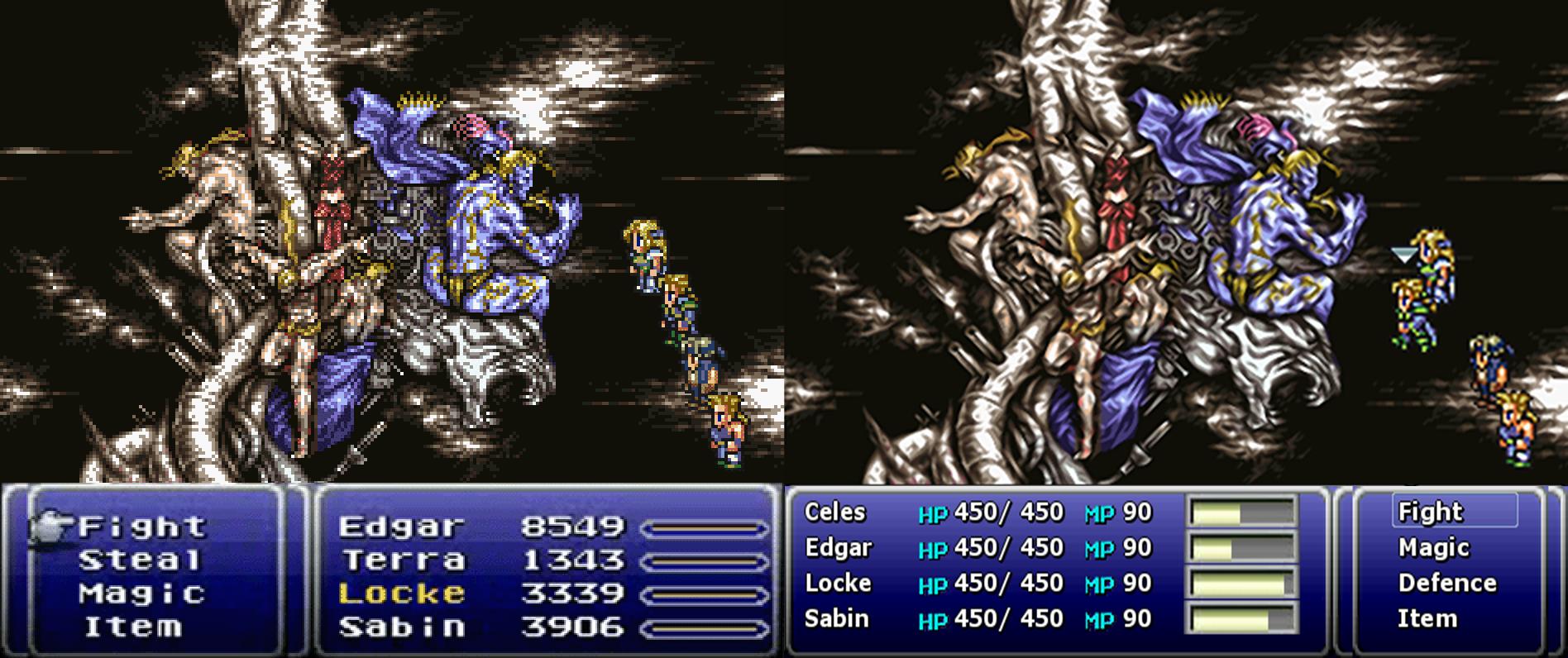 final fantasy VI android comparacion