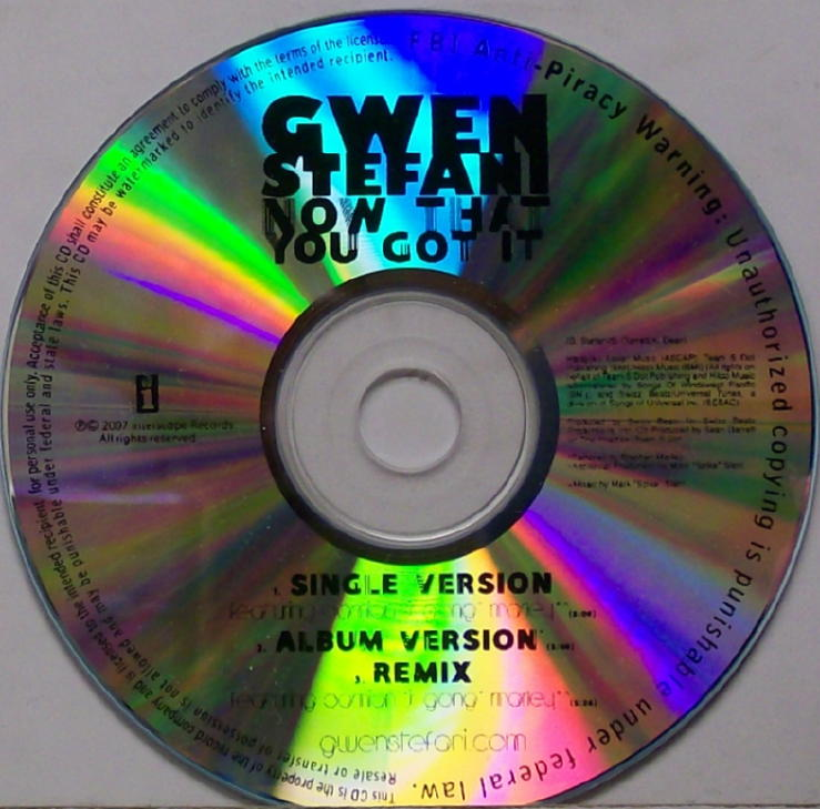 gwen stefani now that you got it cd