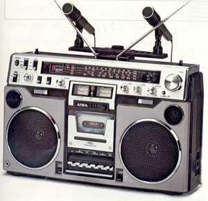 radiocasette Aiwa TPR-955 microfonos grabaciones stereo