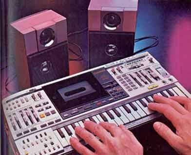 radiocasette Casio KX-101 teclado sintetizador