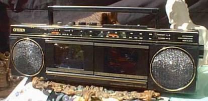 radiocasette Citizen LCD TV Stereo Casssette