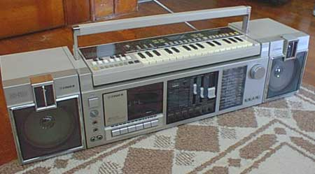 radiocasette Fisher CR-300 teclado
