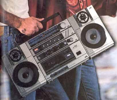radiocasette JVC PC-200W 1985