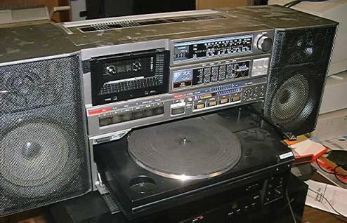 radiocasette JVC PC-DC33 vinilos